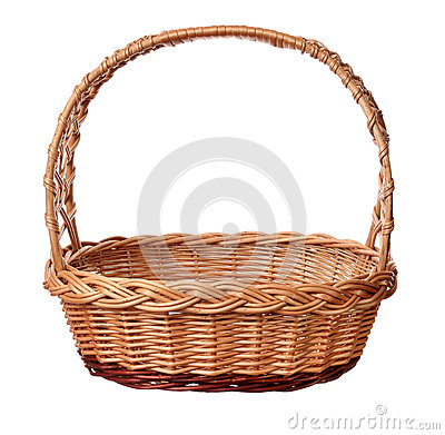 Free A Wicker Basket With Handle. Stock Photos - 40571013