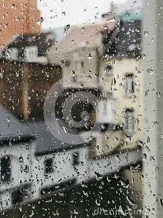Free A Window On A Rainy Day Royalty Free Stock Photography - 127182807
