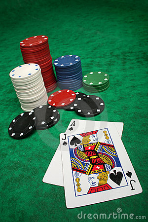 Free A Winning Blackjack Hand Royalty Free Stock Photos - 10885938