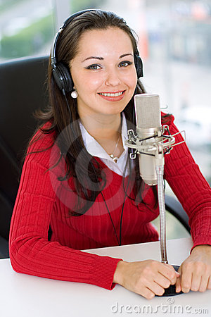 Free A Woman DJ Is In Front Of A Mic Stock Photos - 17246213
