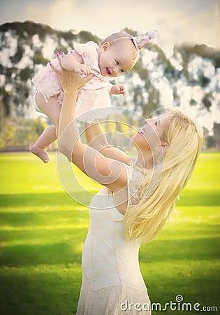 Free A Woman S Joy Of Motherhood Stock Image - 53251911