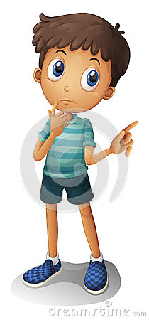 Free A Young Boy Thinking Royalty Free Stock Photos - 28723628