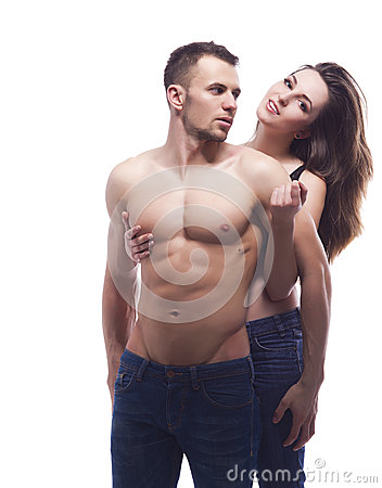 Free A Young Couple Embracing Stock Photo - 30239300