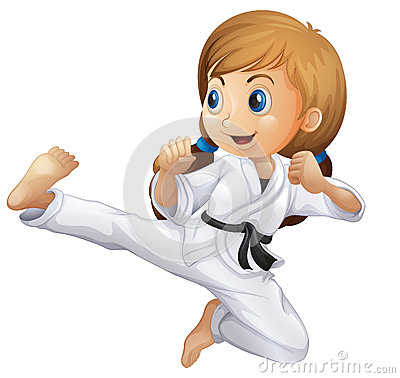 Free A Young Girl Doing Karate Royalty Free Stock Image - 40547296