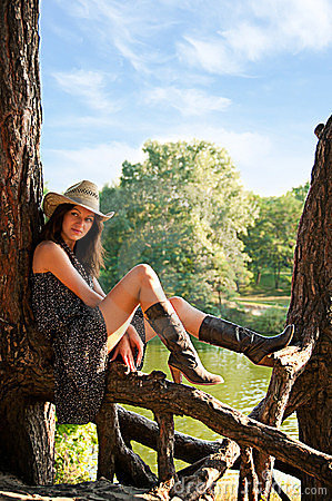 Free A Young Girl In The Style Of The Country. Stock Images - 24169304