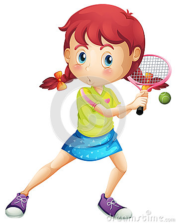 Free A Young Girl Playing Tennis Stock Photos - 40254043