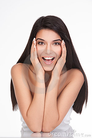 Free A Young Woman With A Surprised Face Expression Stock Images - 17164714