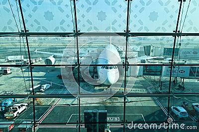 Эрбас a380 Редакционное Стоковое Изображение