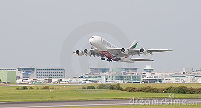 A380 Airbus Manchester Editorial Stock Image