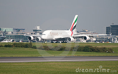 A380 Airbus Manchester Editorial Stock Photo