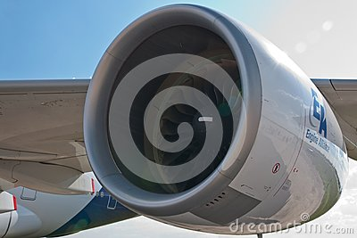 A380 aircraft jet engine Editorial Photography