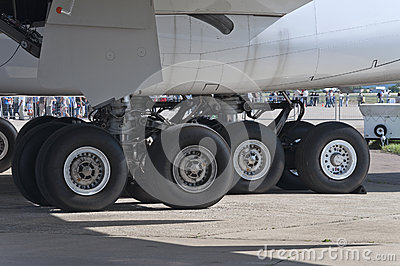 A380 aircraft landing gear Editorial Photo