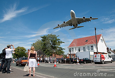 A380 approach Editorial Photo