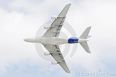 A380 flying over