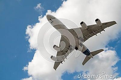 A380 landing Editorial Image