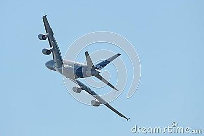 A380 tylni widok Fotografia Editorial