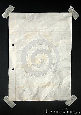 A4被排行的纸张