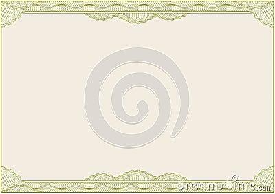 A4 διάνυσμα διπλωμάτων πιστοποιητικών συνόρων