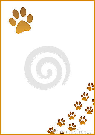 A4 Dog Footprint