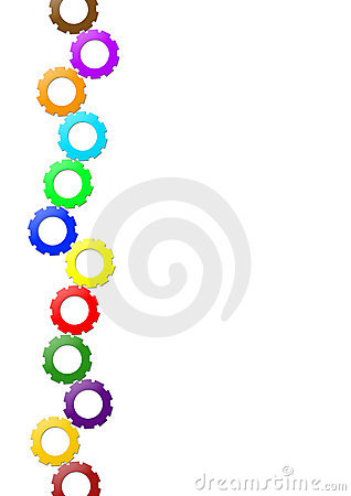 A4 Layout - Coloured Small Gear-Driven Wheels