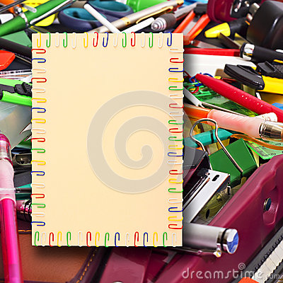 A4 sheet of paper  in the background stationery