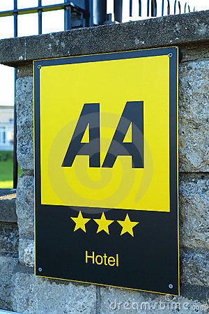 AA Hotel Rating Editorial Photo