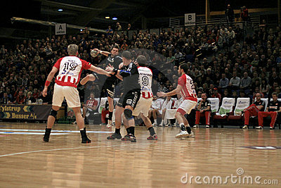AaB Handball - Aarhus GF (29-23) Editorial Stock Image