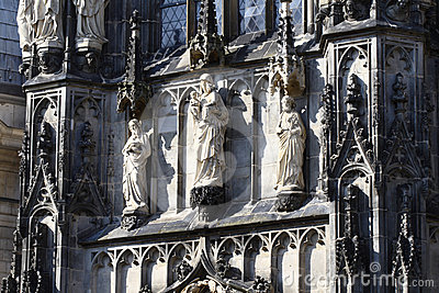 Aachen Cathedral detail, Germany