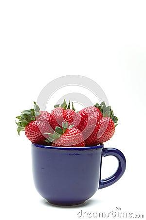 Aardbeien in een kop