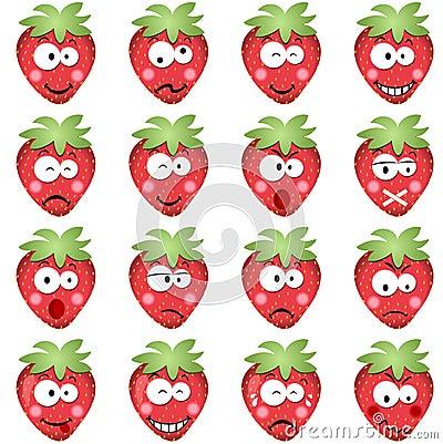 Aardbeien met emoties