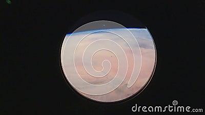 Aarde, mening van het venster van het Internationale ruimtestation ISS NASA en ontdekking royalty-vrije illustratie