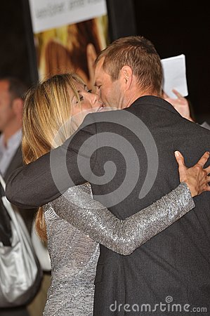 Aaron Eckhart,Jennifer Aniston Editorial Stock Photo