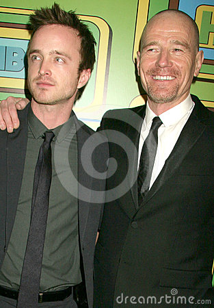 Aaron Paul,Bryan Cranston Editorial Photography