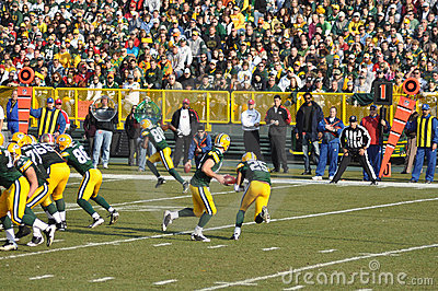 Aaron Rodger of the Green Bay Packers Editorial Stock Image