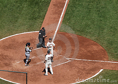 Aaron Rowand celebrates a home run at homeplate Editorial Stock Image