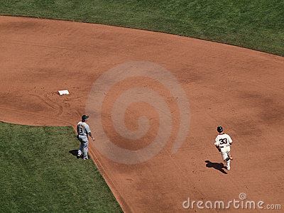 Aaron Rowand in a home run trot Editorial Stock Image
