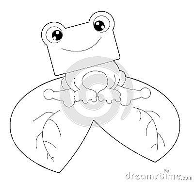 żaba czarny biel