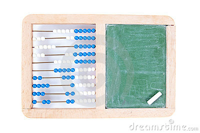 Abacus with blank chalkboard