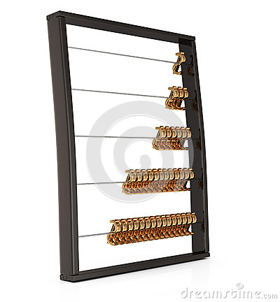 Abacus with golden dollar sign