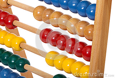 Abacus with wooden balls