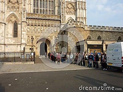 Abadía de Westminster el 26 de abril de 2011 Imagen de archivo editorial