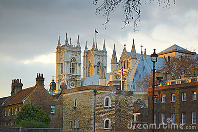 Abadía de Westminster: opinión de calle posterior, Londres