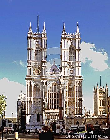 Abadia de Westminster Foto Editorial