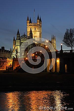 Abadia do banho na cidade do banho - Inglaterra