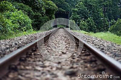 Abandon railway track