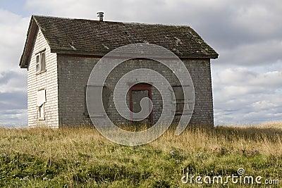 Abandon wooden house