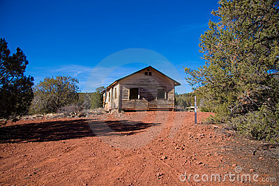 Abandoned Arizona desert cabin