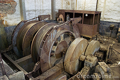 Abandoned big pulley mine.