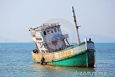Abandoned Boat at Koh Mak