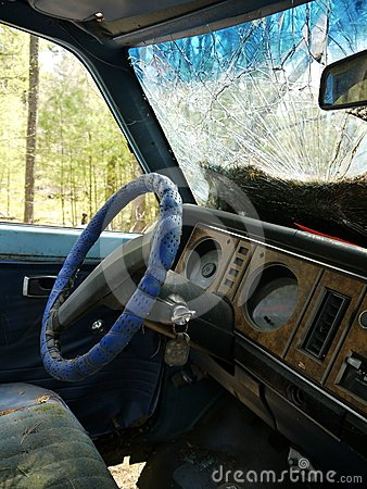 Abandoned car: interior